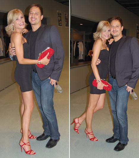 Balogh Edina és férje  Balogh Edina természetesen férjével jelent meg a VIVA Cometen. A friss házasokról lerítt, mennyire boldogok egymás mellett. A Barátok közt színésznője szűk, pánt nélküli kis feketéjéhez piros retikült és magassarkú szandált választott.