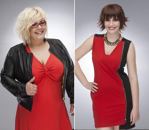 Pákai Petra és Torzsa Gabriella a pirosra esküsznek, ez a szín emeli ki a legjobban a nőiességüket.