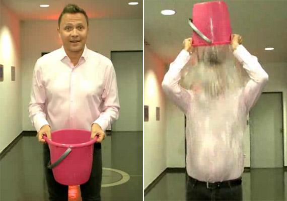 Gönczi Gábor volt ez első magyar műsorvezető, aki a kamerák előtt vállalta a jeges vizes kihívást, és az RTL Klub Fókusz című műsorában bemutatott olyan hazai sztárokat, akik követték a példáját.