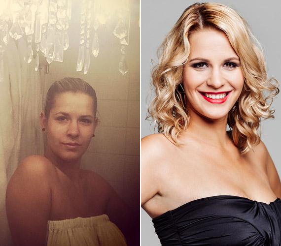 """""""25 és a halál között már nem luxus a kozmetika, hanem kötelező"""" - írta a bal oldali fotója mellé Kállai-Kiss Zsófi, a harmadik adás kiesője."""