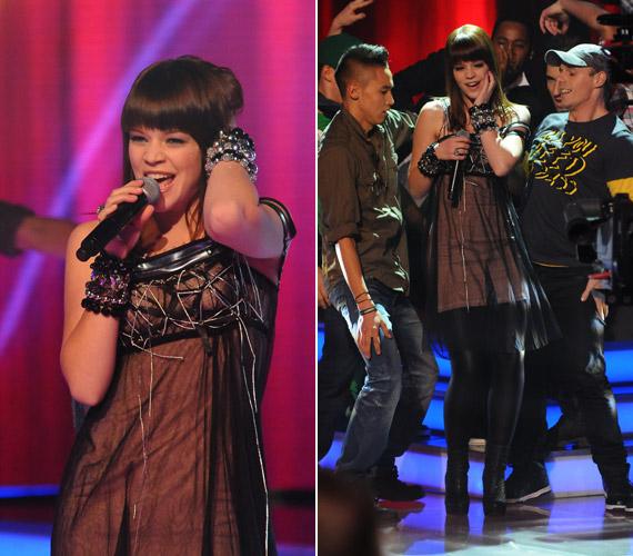 A mellrésznél különleges ruhájában Muri Enikő igazi dívaként énekelt a november 19-ei élő show-ban.