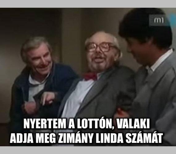 A Zimány-Kedves kapcsolat a Szomszédok forever Facebook-oldal készítőit is megihlette. Az idős Böhm bácsi szájába adták a vicces megjegyzést.