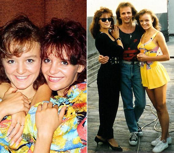 Szandival, illetve húgával és annak férjével egy 20 évvel ezelőtti turné dunaszerdahelyi állomásán.