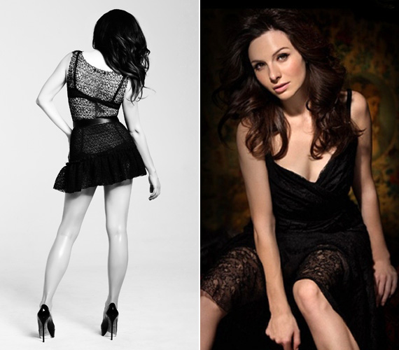 Zséda az Ötödik érzékhez készült egyik fekete-fehér felvételen, illetve a 2008-ban megjelent Rouge című albumhoz készült fotón szintén csipkeruhában.