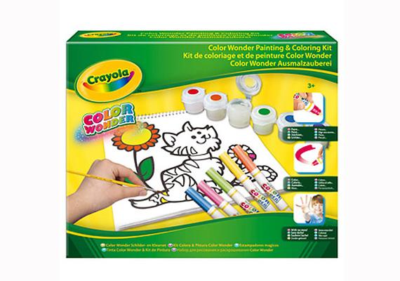 A Crayola Color Wonderrel a kis Picasso úgy élheti ki magát, hogy csak a papír lesz színes, az asztal és minden egyéb más megússza a mázolást. Ha tetszik, itt rendelheted meg 3490 forintért.