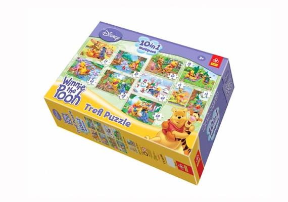A tíz részes Micimackós puzzle-szett remekül fejleszti a gyerekek gondolkodását, és mindössze 3350 forintba kerül, ha itt rendeled meg.