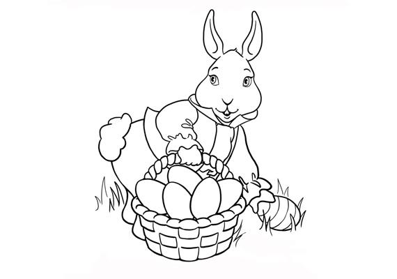 Lám, lám, most már tudod, hogyan kerül a húsvéti nyuszi kezébe a tojás. Töltsd le a színezőt innen!
