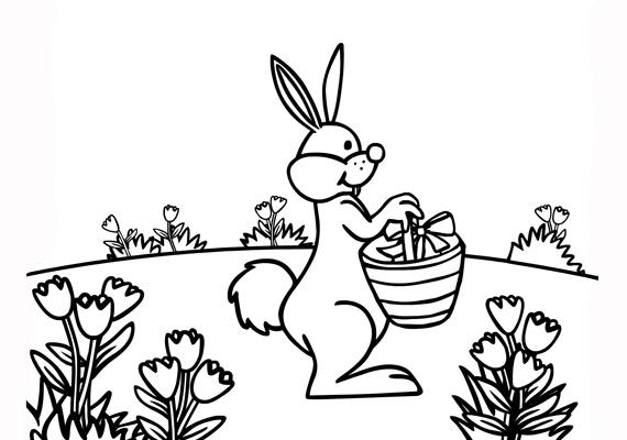 A rét és a virágok igazi tavaszi hangulatot árasztanak. Töltsd le a színezőt innen!