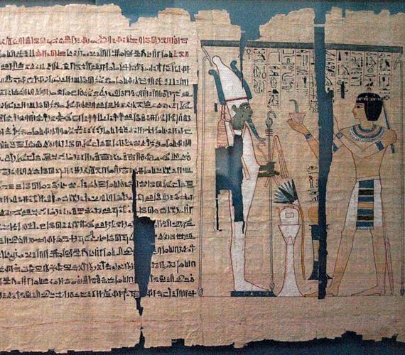 Halottak könyveA Gregorián-egyiptomi Múzeumot, azaz a Museo Gregoriano Egizianót XVI. Gergely pápa hozta létre 1839-ben. Itt számos rendkívül értékes egyiptomi kincset és leletet őriznek, mint amilyen többek között a képen látható Halottak könyve.