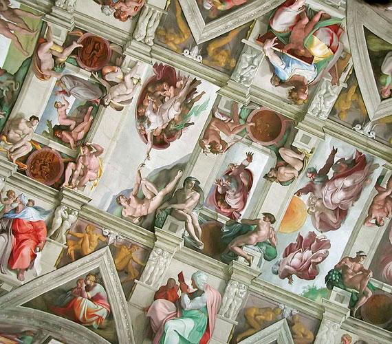 Sixtus-kápolnaA kápolnát IV. Sixtus pápa építtette, míg a mennyezetet és oltárfalat borító freskók elkészítésére utódja, II. Gyula pápa kérte fel Michelangelót, aki 1512-ben fejezte be művét.