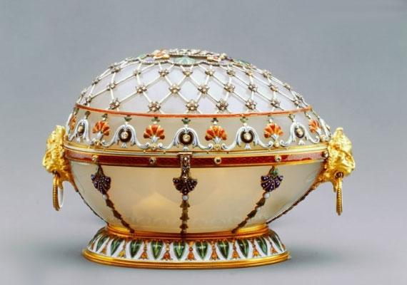 Ennek a tojásnak lehetett a szerencsés tulajdonosa III. Sándor felesége, Maria Feodorovna.