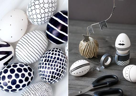 Ne feledkezz meg a filctollakról se, ezekkel egyszerűbb és nehezebb mintákat vagy akár cuki kis figurákat is megjeleníthetsz a tojáson. Sőt, szöveget is írhatsz rájuk!