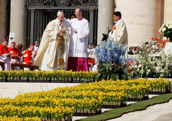 Az eseményről nem hiányozhat a dekorációként szolgáló, rengeteg szebbnél szebb virág sem. A jeles alkalomból a legkülönfélébb fajtákat sorakoztatják fel a helyszínen, így például tulipánokat, rózsákat vagy nárciszokat. Ezek azonban nem a Vatikán kertjéből, hanem Hollandiából származnak.