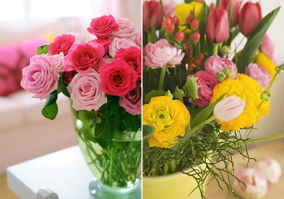 A rózsák magukért beszélnek. Önmagukban - különböző színekben - is feldobják a szobát, más virágokkal társítva pedig egyenesen lenyűgözőek.