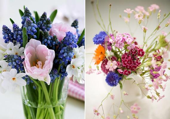 Nem muszáj egyféle virághoz ragaszkodni, akár kombinálhatod is a különböző fajtákat egy vázában. A vegyes csokor látványként egy kicsit bohókás, de pont ebben rejlik az ereje.