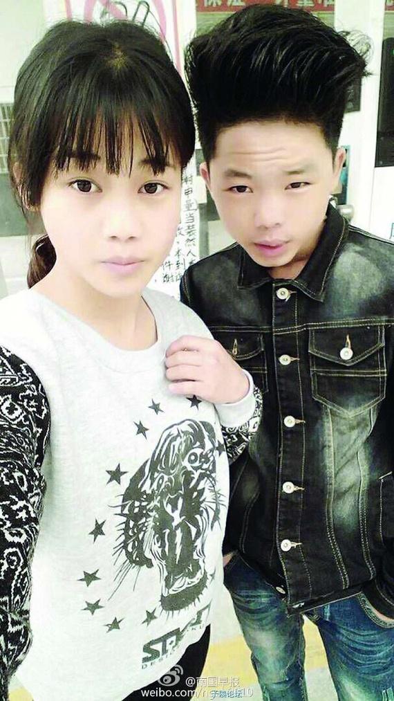 Esküvőjük nem hagyományos esküvő, hanem esküvői bankett volt, Kínában ugyanis a házasodás alsó korhatára férfiaknál 22, nőknél 20 év, így hat évet várniuk kell a valós ceremóniára. Annak ellenére, hogy sokan kételkednek a fiú életkorában, állítja, a feltételezések dacára nem 13, hanem 16 éves.