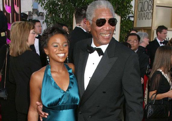 Morgan Freemant gyakran látni mostohaunokájával, a 27 éves E'Dena Hinesszal.