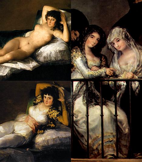 Maya botrányaMaya, aki mellesleg szajha volt, többször is modellt állt Goyának. Egyik alkalommal azonban, amikor megfestette meztelenül, a kép akkora felháborodást keltett, hogy a művész végül felöltöztette modelljét, vagyis készített egy másik képet, amin a nő ruhában látható.