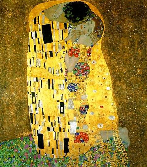 Klimt: A csókGustav Klimtnek rengeteg erotikus témájú képe van. A csók azonban mind közül a legfigyelemreméltóbb. A szerelem oltárképének tartják, azonban minden szerénysége ellenére igen erőteljes erotikus töltettel is rendelkezik, hiszen a férfi csókra hajló feje falloszként mered a nő felé.