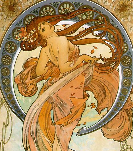 Mucha és a nőkAhogy Tavasz című képén is látható, Alfonse Mucha a romantikusan erotikus nő képét teremtette meg. Alakjai kacérabbak, mint a felvilágosodás kori festészet szerény hölgyei, mégis az art nouveau stílusa valami éteri idillt von a nők köré.