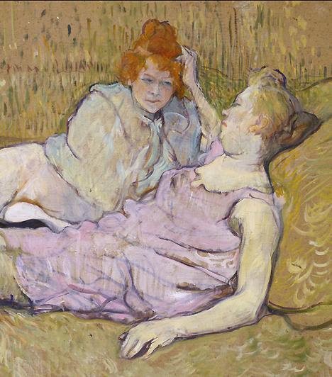 Szajhák a vásznonHenri Toulouse-Lautrec, a posztimpresszionizmus nagy mestere a párizsi bordélyok gyakori vendége volt. A prostituáltak olyan pillanataikat is megosztották vele, amelyeket senki mással, ő pedig a maguk intim, misztikumtól mentes valójukban ábrázolta őket, többnyire inkább rútnak, mint szépnek.
