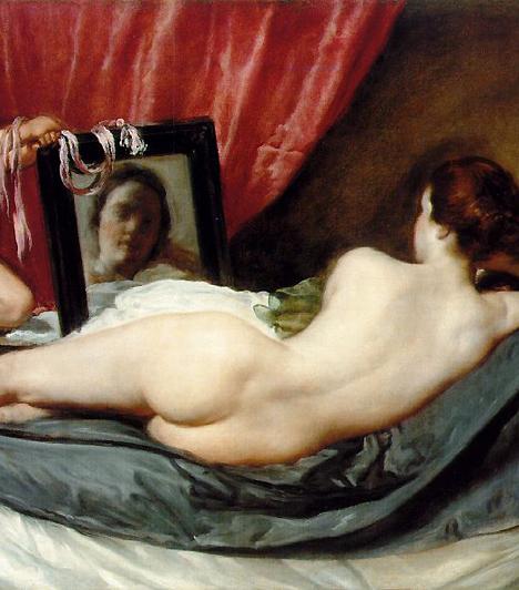 Vénusz a tükörrelHa Botticelli megteremtette a szerényen erotikus nő ideálját, Velazquez megfestette a hiú, szexuális öntudatra ébredő nőt. Kettejük Vénusza időben két évszázadra van egymástól. Ezalatt az idő alatt sokat változott az erotika-kép, bár a spanyol festő alkotása még mindig igen merész sokat sejtető, öncélú meztelenségével.