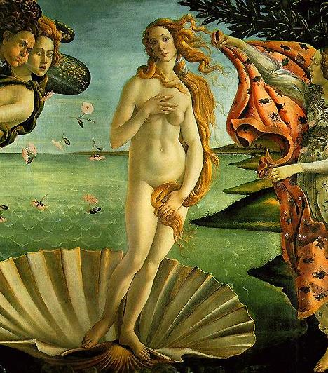 Vénusz születéseA híres festményt Botticelli az 1400-as évek végén, pályája csúcsán festette. Vénusz-ábrázolása azóta is az erotikus nő és a tökéletes szépség allegóriájaként él a köztudatban.