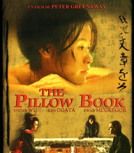 PárnakönyvA Párnakönyv, Peter Greenaway 1996-os filmje megosztotta rajongóit és kritikusait. A főhős, Nagiku életében a szexualitás és a kalligráfia összefonódik, amikor szeretője testére fest.