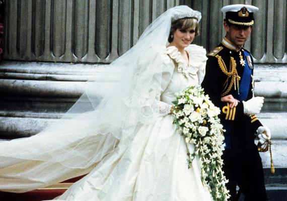 A nyolcvanas években elkezdődött egyfajta felszabadulás a menyasszonyiruha-tervezők fantáziájában, és ez még a kilencvenes években is tartott. Ezekben az években tulajdonképpen minden divatos volt. Az anyagok, színek és fazonok mind változatosak voltak, teret hagyva az egyéniség kifejezésének.  Diana hercegnő és Károly 1981-ben mondták ki a boldogító igent.