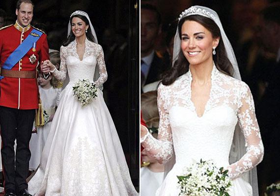 Napjainkban pedig művészetté emelkedett az esküvőiruha-tervezés, szebbnél szebb költeményeket látni az egyes tervezők kollekcióiban. Idén elsősorban a tüll, a csipke, a selyem és a sifon anyagok, a fodrok, a hercegnőfazon, de a letisztult elegancia is hódít.  A képen Vilmos és Katalin, akik 2011-ben házasodtak össze.