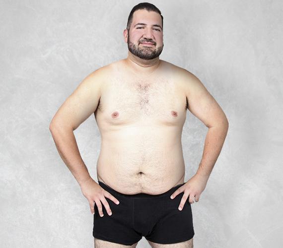 Ez az eredeti kép, ennek a férfinak a testét kellett retusálni.