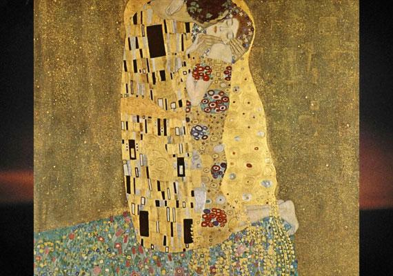 Klimt egyik leghíresebb festményén, a 20. század elejéről.