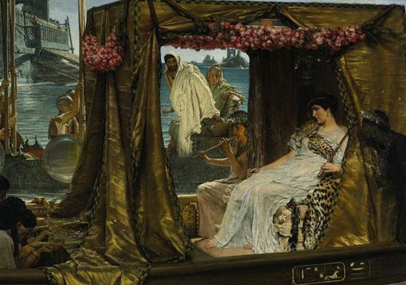 Antonius, a római hadvezér és Kleopátra, az egyiptomi királynő szerelme a Kr. e. 1. századra datálódik. Kleopátrát az elbeszélések szerint kígyó marta halálra, Antonius pedig erre a hírre öngyilkos lett.