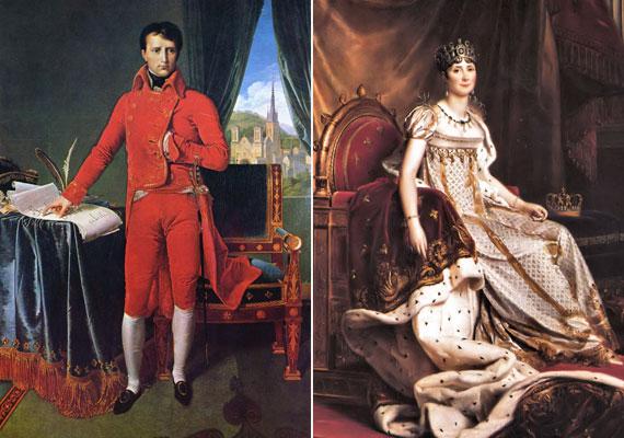 Napóleon császár először anyagi érdekekből vette el első feleségét, Jozefinát, de hamarosan egymásba szerettek. Viharos szerelmük válással végződött.