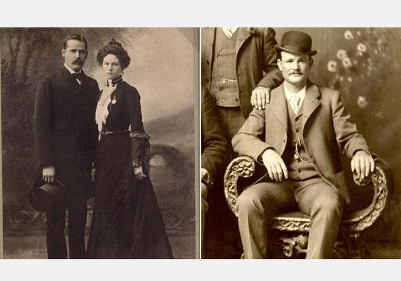 Etta Place és a két legendás westernfigura, Butch Cassidy - jobbra - és a Sundance kölyök - balra - között is szerelmi háromszög alakult ki.