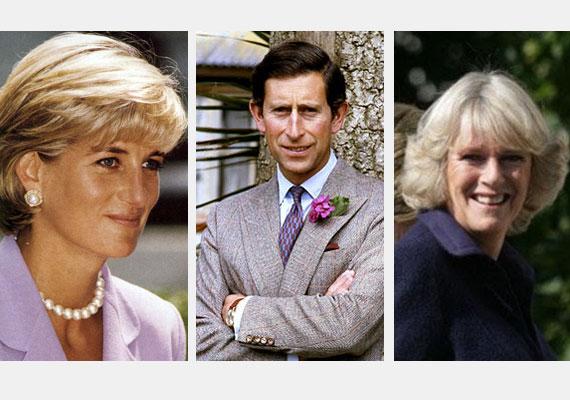 Károly herceg 1981-ben vette feleségül Dianát, de már '86-ban viszonyt kezdett Camillával, akit egyébként 1970 óta ismert. Diana - állítása szerint - tudott a dologról, és ez vetett véget házasságuknak is.