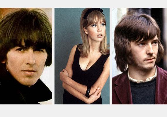 Pattie Boyd először George Harrisonnal - balra - házasodott össze, és ő ihlette a Beatles Something című dalát. Válásuk előtt azonban már Eric Clapton, férje barátja csapta neki a szelet, akivel később össze is házasodtak. Clapton hozzá írta Layla című dalát.
