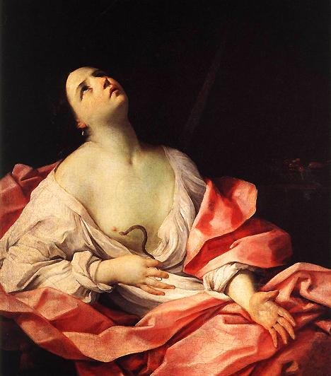 KleopátraA kelet buja királynője a történelem egyik leghíresebb szeretője, aki két derék rómait is könnyedén az ujja köré csavart. Julius Cézártól állítása szerint gyermeke is született, azonban az utókorra Antonius-szal folytatott lángoló viszonya volt nagyobb hatással. A tragikus szerelem, ami végül a kígyók közé hajtotta, számos művészt megihletett.