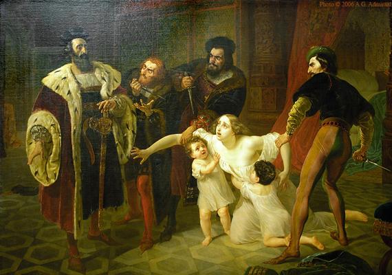 Ines de Castro és I. Péter portugál király első látásra szerettek egymásba, csakhogy a házasságon kívüli kapcsolat nem tetszett a fiú apjának. Inest elküldték, hogy ne legyen útban, de mivel így is veszélyesnek tartották, ezért amikor Péter vadászni ment, a fiú apja megölette a lányt.