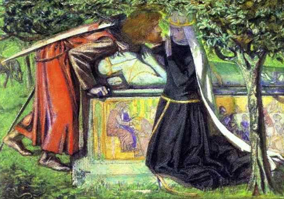 Lancelot, Artúr király legfőbb bizalmasa volt, egészen addig, míg Ginervával, Artúr feleségével egymásba nem szerettek. Amikor kiderült a pár titka, a király máglyahalálra ítélte Ginervát. Egyes források szerint Lancelot megmentette a nő életét, de erre valójában nem sok esélye volt.