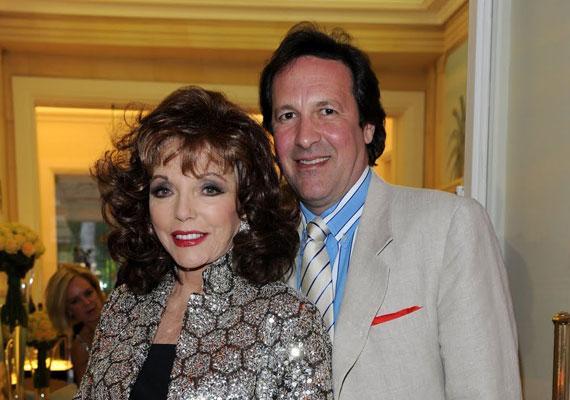 Az immár 79 éves Joan Collins 2002 óta van együtt nála 32 évvel fiatalabb férjével, Percy Gibsonnal.