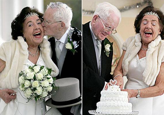 Vidámság és életerő sugárzik Anglia legidősebb friss párjának fotójáról: egy hónapja házasodtak.