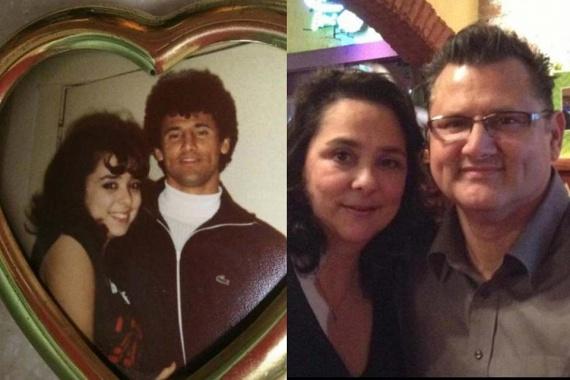 A szív alakú fotókeretben 27 évvel ezelőtti önmaguk mosolyog vissza, ám csak az idő repült el, a szeretet és az összetartás megmaradt Richard és Laura közt.