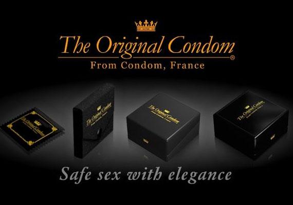 Az Original Condom nevű céget francia arisztokraták alapították, 12-es csomagja 24 dollárba kerül.