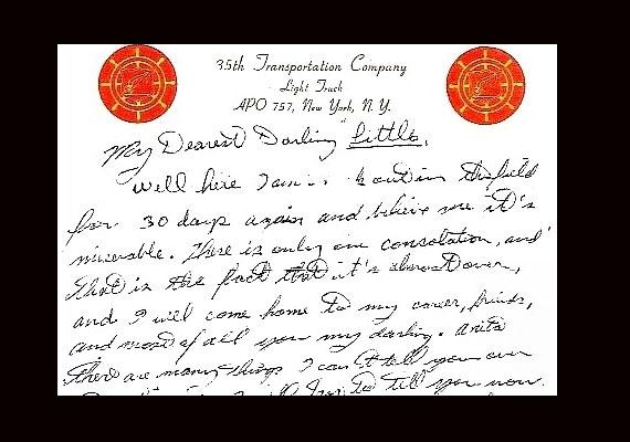 Részlet Elvis Presley Anita Woodhoz írt leveléből, az ötvenes évek végéről.