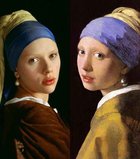 Leány gyöngy fülbevalóvalVermeer 17. századi művész a letisztult, érett erotikát festette meg. A test kultusza helyett a holland festészetben a vonások kerülnek előtérbe, amit a modern fülbevalós lány, Scarlett Johansson klasszikus szépsége is jól visszaad.Kapcsolódó cikk:Minden idők 3 leghíresebb hamisítványa »