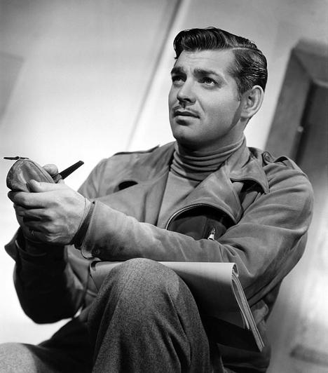 Clark GableClark Gable az 1939-es Elfújta a széllel ért pályája csúcsára, de egészen 1960-ig vitathatatlanul ő volt a filmvászon csókkirálya. Férfiasan durva modora ellenére mindig jól fésült, huncut ferde mosolyáért pedig nem csoda, hogy omlottak a nők.Kapcsolódó cikk:A 20. század legszexibb pasijai »