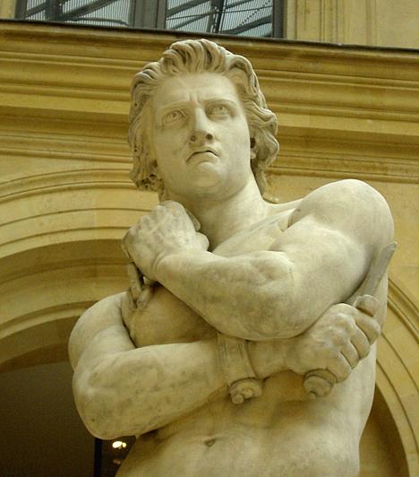 SzpartakuszA trák gladiátor a római történelem kiemelkedő alakja, a művészek szemében pedig maga a megtestesült elszánt hős. Sorstársaiból verbuvált hadseregével számos római légiót legyőzött. A két év során majdnem sikerrel menekítette át felkelő csapatát Szicíliába, de végül legyőzték.
