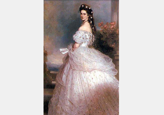 A porcelánbőr nem ment ki a divatból még a 18-19. században sem. Ekkor a darázsderekú, törékeny nő volt az ideál. A képen Erzsébet királyné, Franz Xaver Winterhalter alkotása.