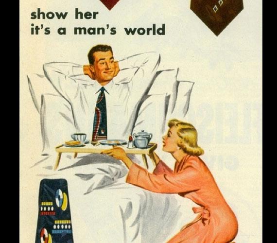 Az 1951-es nyakkendőreklám szerint ez a férfiak világa.